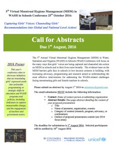 5th MHM VC 2016 - Call for Abstracts[1]