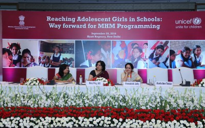 Keeping adolescent girls in Schools – MHM conveying India