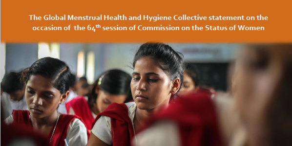 CSW64 – Statement by Menstrual Health & Hygiene Collective