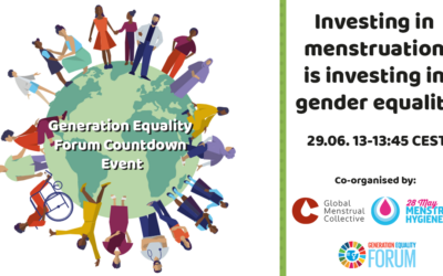 Generation Equality Forum Countdown Event: Investing in menstruation is investing in gender equality